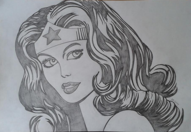 Wonder Woman drawing for blog